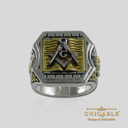 Knight Templar Sterling Silver Gold Plated Mason Masonic Freemason Bible Freemasonry Men Historical Ring2