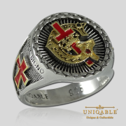 Knight Templar Sterling Silver Gold Pld Mason Masonic Rings Freemason Freemasonry Men Historical Ring1