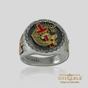 Knight Templar Sterling Silver Gold Pld Mason Masonic Rings Freemason Freemasonry Men Historical Ring5