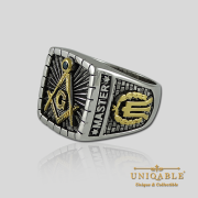 Knights Templar Sterling Silver Gold Plated Mason Masonic Freemason Freemasonry Men Historical Ring6