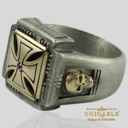 knights-templar-skull-sterling-silver-gold-masonic-rings-freemason-cross-ring-3