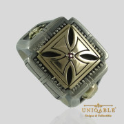 knights-templar-skull-sterling-silver-gold-masonic-rings-freemason-cross-ring-4