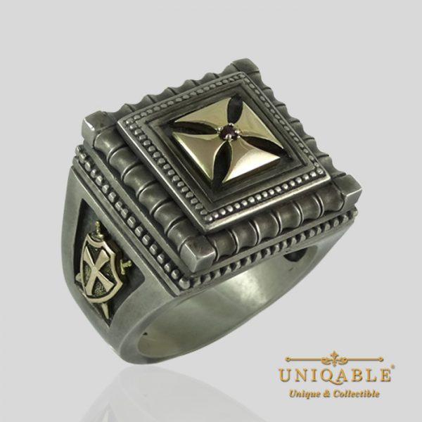 knights-templar-sterling-silver-gold-masonic-rings-freemason-cross-ring-1