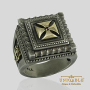 knights-templar-sterling-silver-gold-masonic-rings-freemason-cross-ring-11
