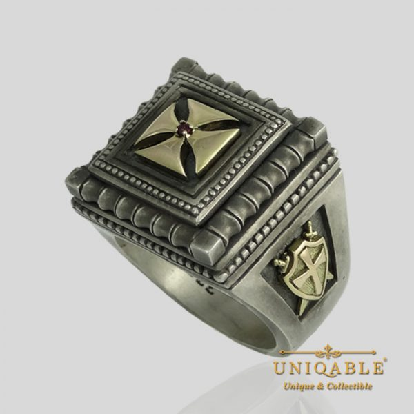 knights-templar-sterling-silver-gold-masonic-rings-freemason-cross-ring-2