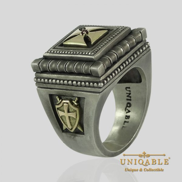 knights-templar-sterling-silver-gold-masonic-rings-freemason-cross-ring-5