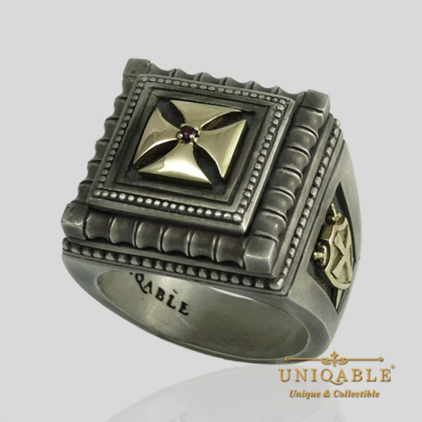 knights-templar-sterling-silver-gold-masonic-rings-freemason-cross-ring-6