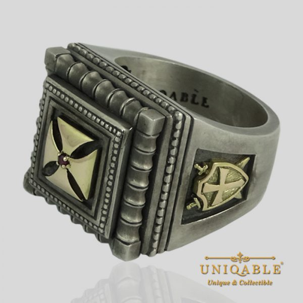 knights-templar-sterling-silver-gold-masonic-rings-freemason-cross-ring-7