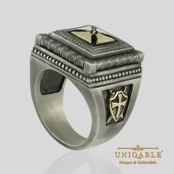knights-templar-sterling-silver-gold-masonic-rings-freemason-cross-ring-9