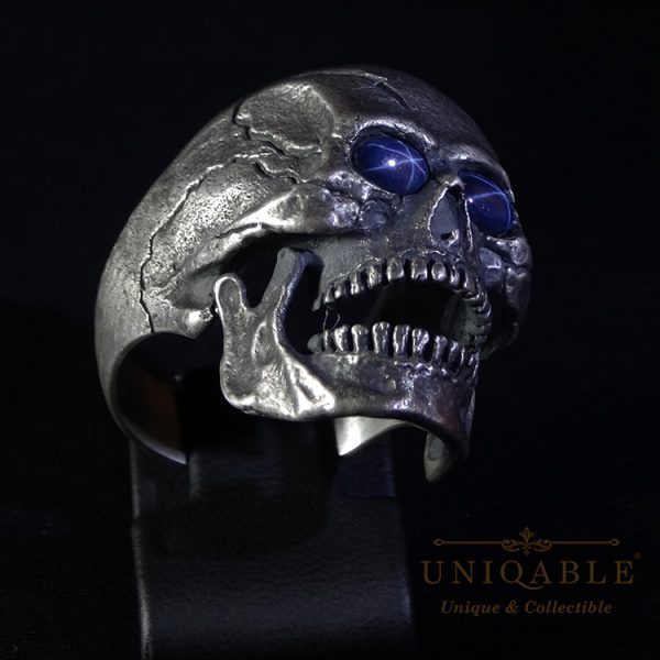 skull-sterling-silver-biker-sapphire-ring-custom-harley-davidson-masonic-rock-heavy-metal-3