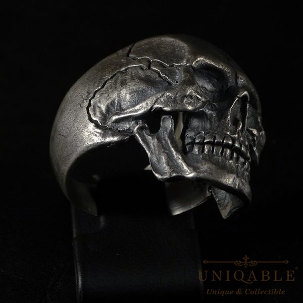 Full Jaw Skull Sterling Silver 925 Biker Ring Uniqable