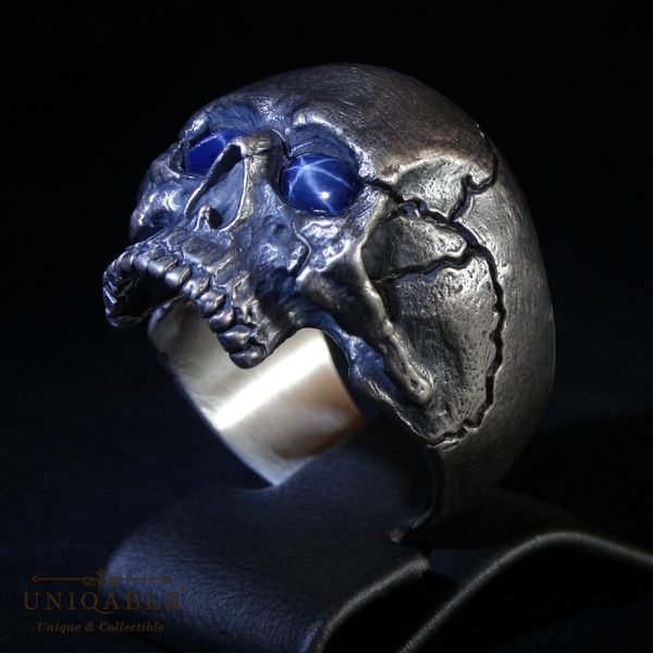 sterling-silver-biker-skull-ring-custom-made-harley-davidson-freemason-gems-1