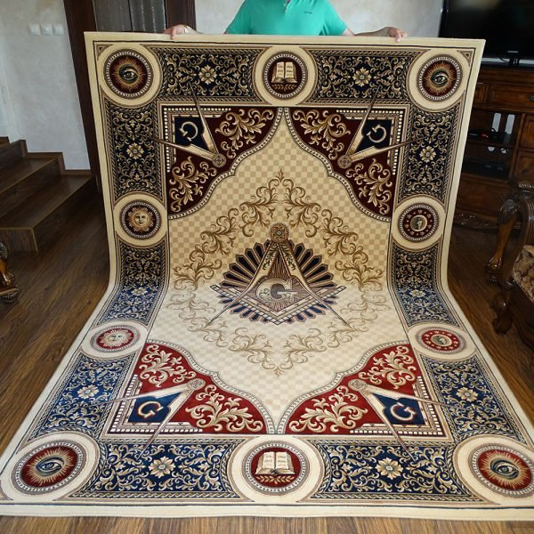 1 Masonic Freemasonry Knights Templar Square and Compass Area Rug Ring Apron 2 1