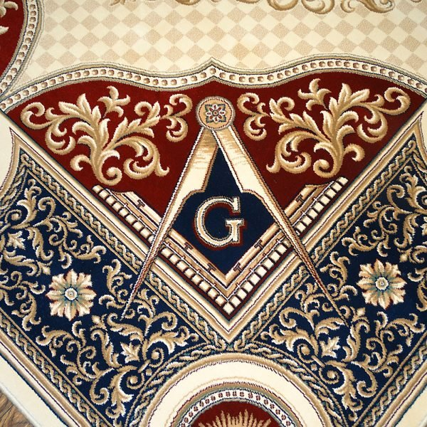 Masonic Freemasonry Knights Templar Square and Compass Area Rug Ring Apron 5 1