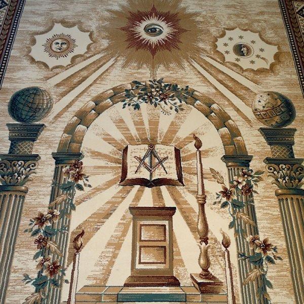 Masonic Freemasonry Royal Arch Knights Templar Area Rug Ring Apron 14 1