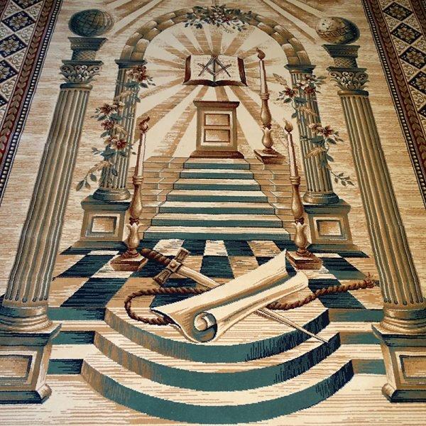 Masonic Freemasonry Royal Arch Knights Templar Area Rug Ring Apron 15 1