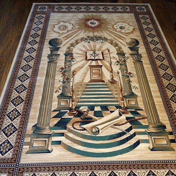 Masonic Freemasonry Royal Arch Knights Templar Area Rug Ring Apron 16 1