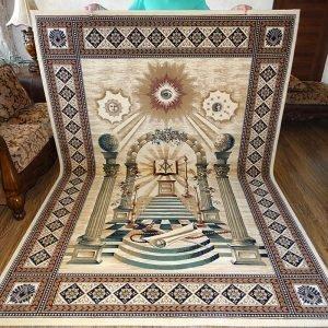 Masonic Freemasonry Royal Arch Knights Templar Area Rug Ring Apron 2 1