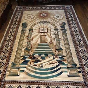 Masonic Freemasonry Royal Arch Knights Templar Area Rug Ring Apron 4 1