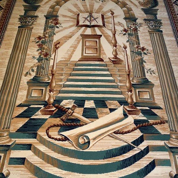 Masonic Freemasonry Royal Arch Knights Templar Area Rug Ring Apron 5 1
