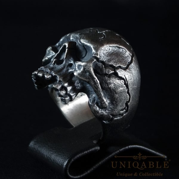 Skull Sterling Silver Biker Ring Custom Harley Davidson Masonic Heavy Metal 1 1