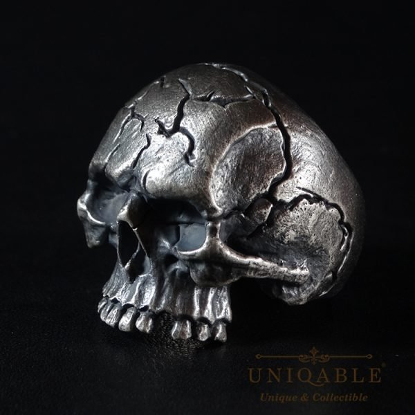 Skull Sterling Silver Biker Ring Custom Harley Davidson Masonic Heavy Metal 10 1