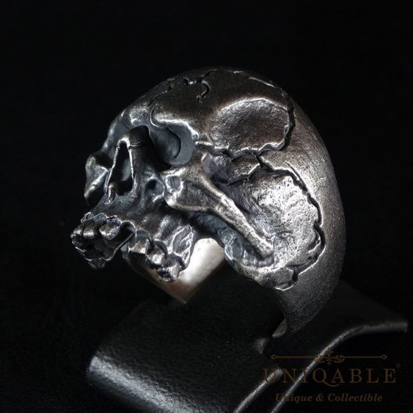 Skull Sterling Silver Biker Ring Custom Harley Davidson Masonic Heavy Metal 6 1