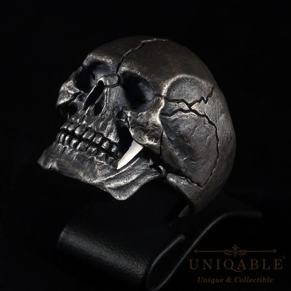 Sterling Silver Biker Skull Ring Custom Harley Davidson Masonic Heavy Metal 1 1