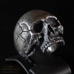Sterling Silver Biker Skull Ring Custom Made Harley Davidson Freemason 1 1