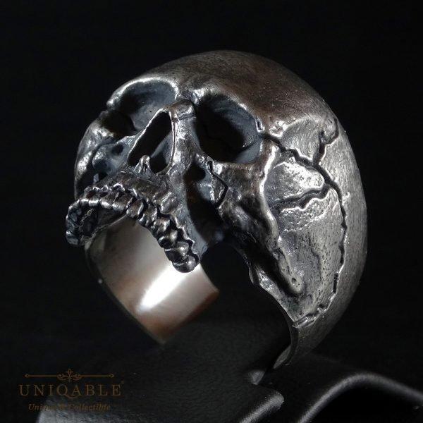 Sterling Silver Biker Skull Ring Custom Made Harley Davidson Freemason 10 1