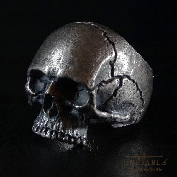 Sterling Silver Biker Skull Ring Custom Made Harley Davidson Freemason 11 1
