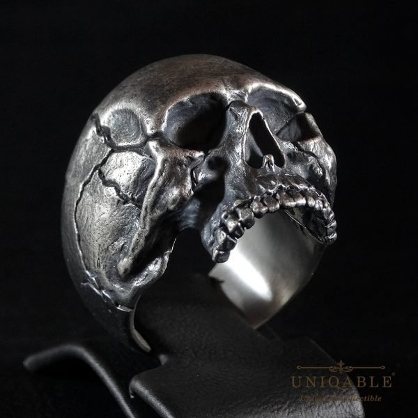 Sterling Silver Biker Skull Ring Custom Made Harley Davidson Freemason 12 1