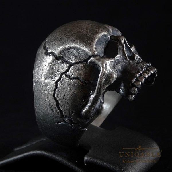 Sterling Silver Biker Skull Ring Custom Made Harley Davidson Freemason 4 1
