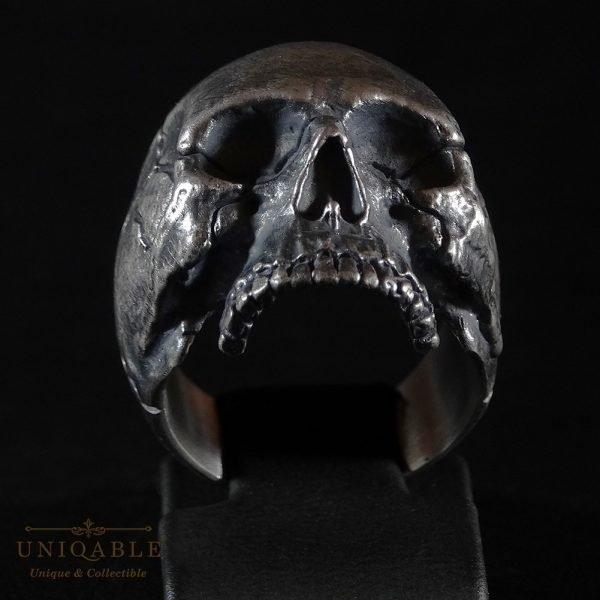 Sterling Silver Biker Skull Ring Custom Made Harley Davidson Freemason 5 1