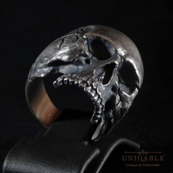 Sterling Silver Biker Skull Ring Custom Made Harley Davidson Freemason 7 1