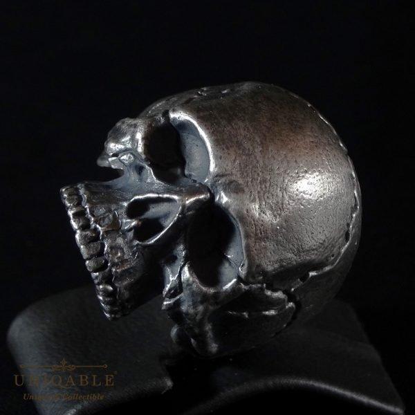 Sterling Silver Biker Skull Ring Custom Made Harley Davidson Freemason 8 1