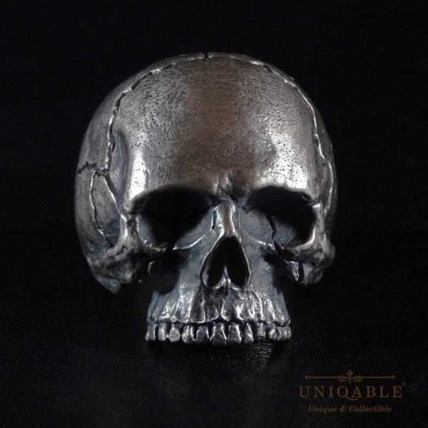 Sterling Silver Biker Skull Ring Custom Made Harley Davidson Freemason 9 1